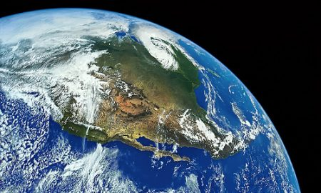Earth and North America from Space